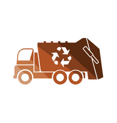 garbage car recycle icon vector image