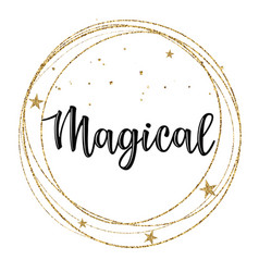 Greeting card with magical vector