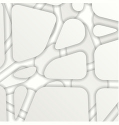 grey abstract modern papercut background vector image