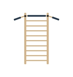 Gymnastics wall bars ladder vector