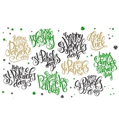 hand lettering saint patrick s day vector image