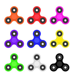 Hand spinner set flat vector