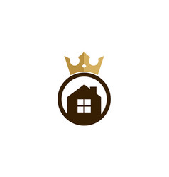home king logo icon design vector image