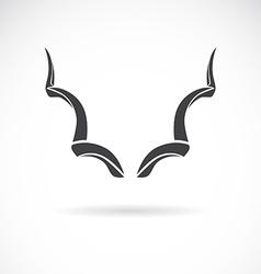 Horns vector image