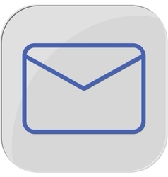 Icon mail massage web vector