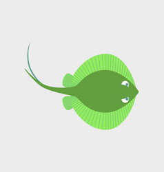 in flat style ramp fish vector image