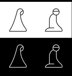 Islamic prayer room area sign symbol logo icon vector