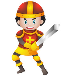 knight with red armour vector image