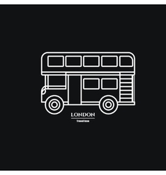 London Double Bus vector image