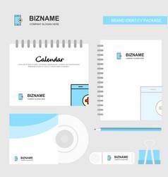 Medical app logo calendar template cd cover diary vector