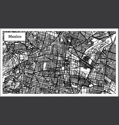Mexico city map in black and white color vector