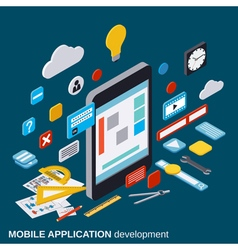 Mobile application development concept vector image