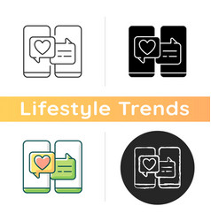 Online dating icon vector