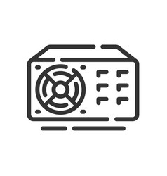 Power supply icon in simple one line style vector