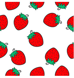 Red fruit of doodle style vector