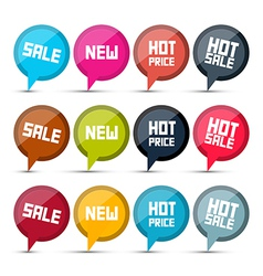 Sale Labels Set on White Background vector