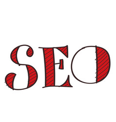 search engine optimization icon with a black vector image