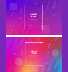 set abstract minimalistic background vector image