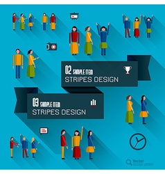 Set Of Icons and people vector image