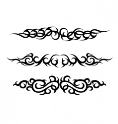 set of tattoo design vector image
