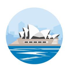 Sidney destination to travel vacation adventure vector