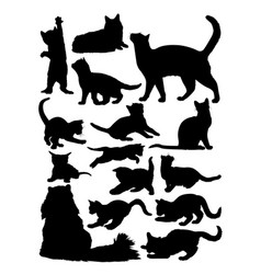 Silhouette cat vector