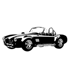 Silhouette classic sport car ac shelcobra vector