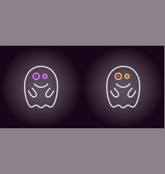 Soaring neon spirit in white color vector