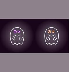 soaring neon spirit in white color vector image