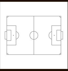 Soccer field icon sketch of europe football field vector