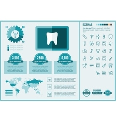 Stomatology flat design Infographic Template vector