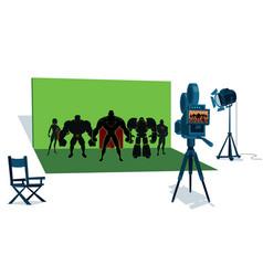 superhero team movie set vector image