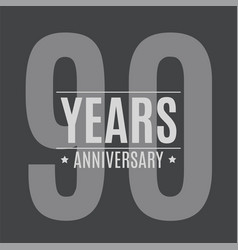 template logo 90 years anniversary vector image