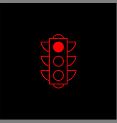 traffic light line icon stop light and navigation vector image