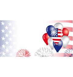 usa balloons flag banner vector image