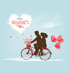 valentines holiday day background with a heart vector image