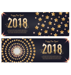 web banner template for happy new year 2018 vector image