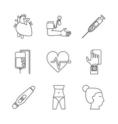 White background with monochrome icons of health vector