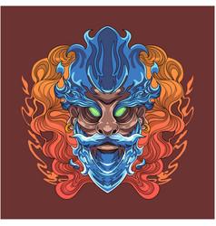 wizard esport mascot logo design vector image