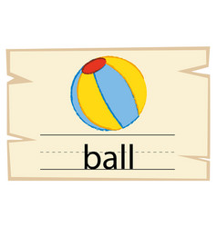 Wordcard for word ball vector