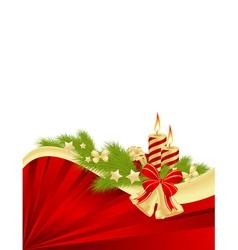 abstract christmas frame 1 vector image vector image