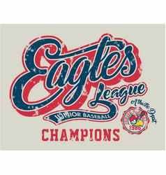 Eagles junior baseball vector
