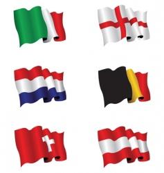 flag set vector image vector image