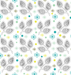 White Leaves Endless Seamless Pattern vector image