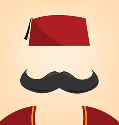 A man with a fez vector