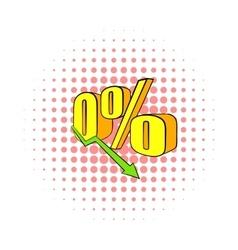 Decline in revenue icon comics style vector image vector image
