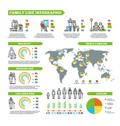 family statistics infographics with vector image vector image
