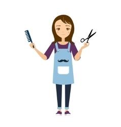 Hairdresser vector image vector image