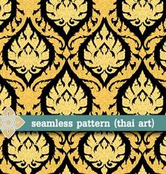 seamless pattern -thai art vector image
