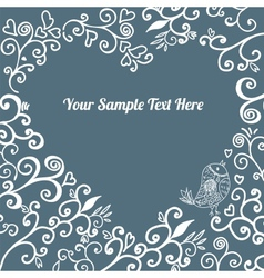 Romantic hand drawn floral card vector image vector image
